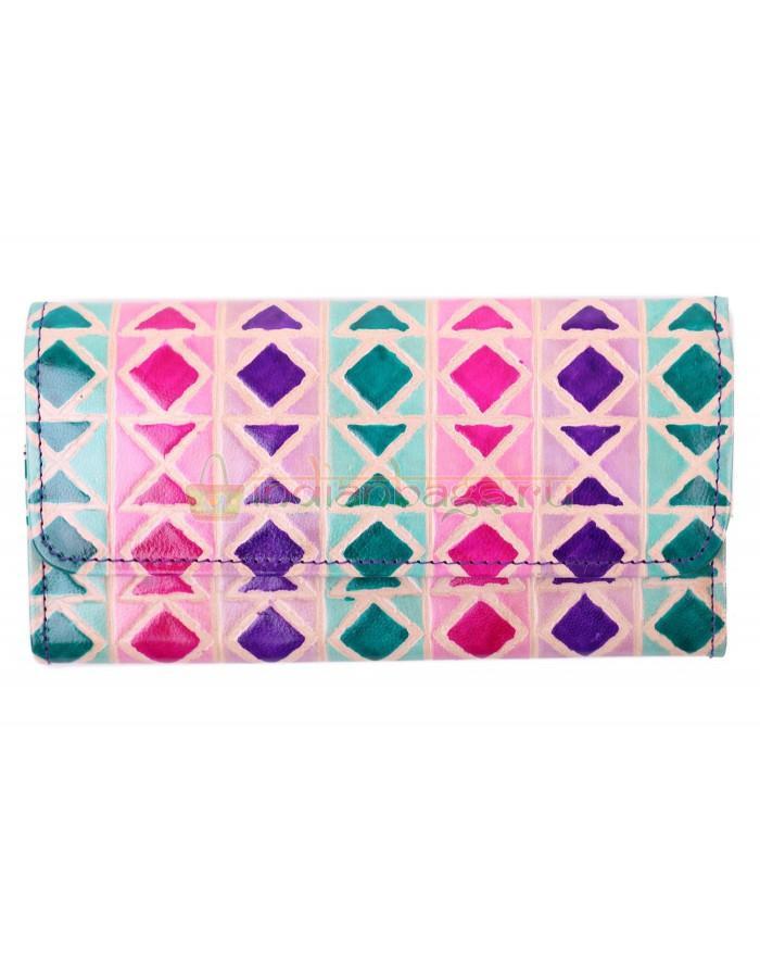 Купить индийский кожаный кошелек «Вереница» из натуральной кожи в интернет-магазине индийских сумок «IndianBags.ru»