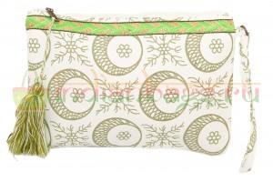 Сумка-косметичка текстильная с декоративной отделкой
