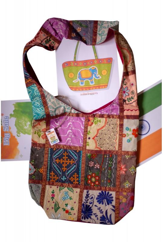 Наплечная индийская сумка 335