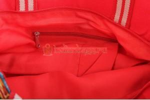 Индийская большая сумка из хлопка унисекс #АВ4541