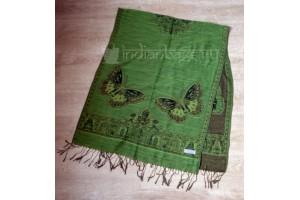 Пашмина (палантин) зеленая