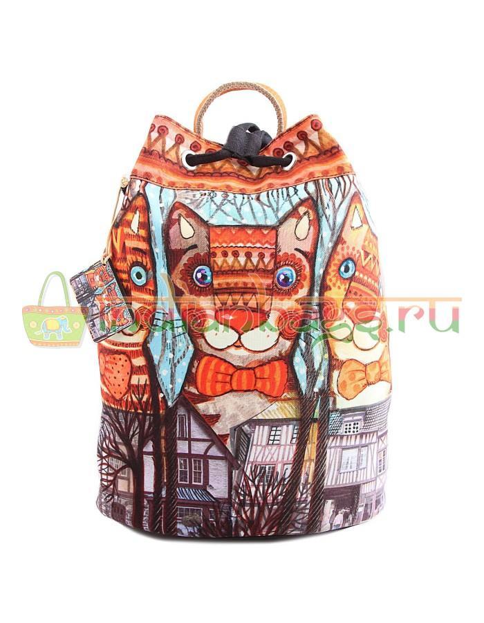 Купить Индийский рюкзак из хлопка с декоративной отделкой #АВ4505 в интернет-магазине индийских сумок «IndianBags.ru»