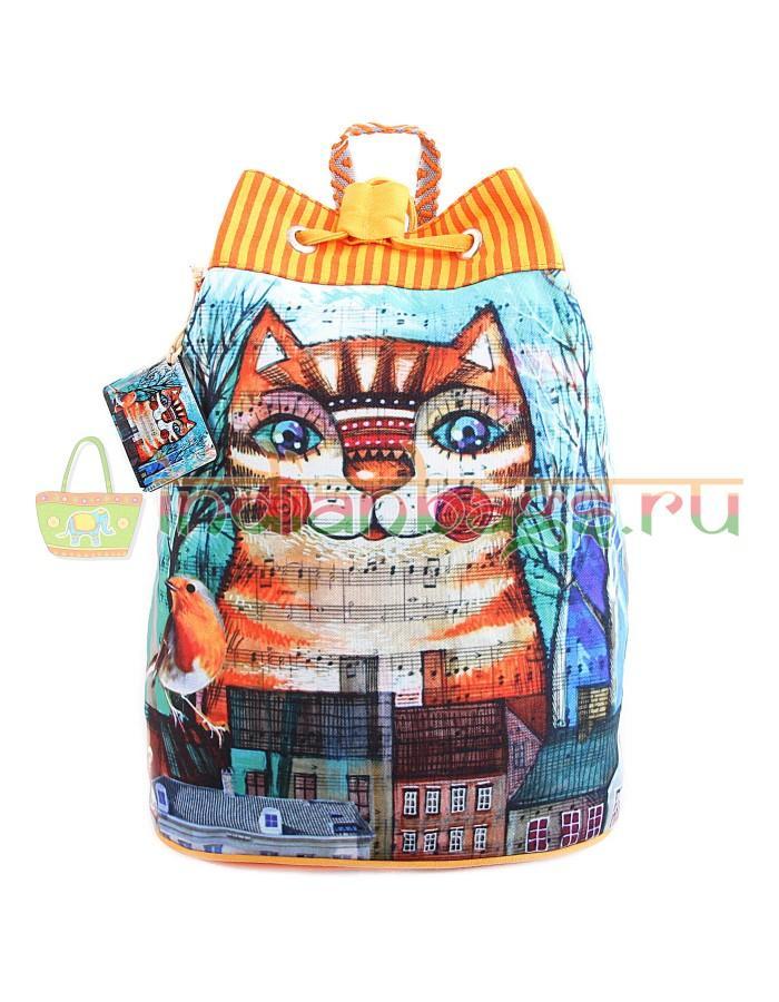 Купить хлопковый индийский рюкзак с декоративной отделкой #АВ4496 в интернет-магазине индийских сумок «IndianBags.ru»