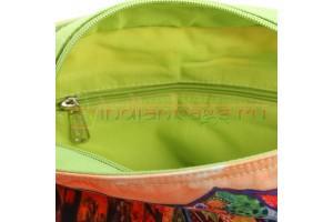 индийская хлопковая наплечная сумка с принтом слона #АВ4479 вид изнутри