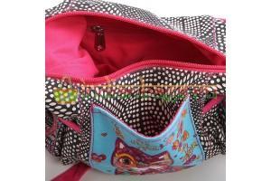 Индийская женская наплечная текстильная Этно сумка с декоративной отделкой #АВ4464