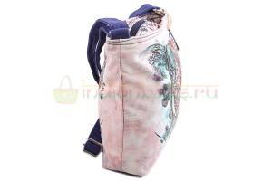 Индийская наплечная текстильная сумка #АВ4460 вид сбоку