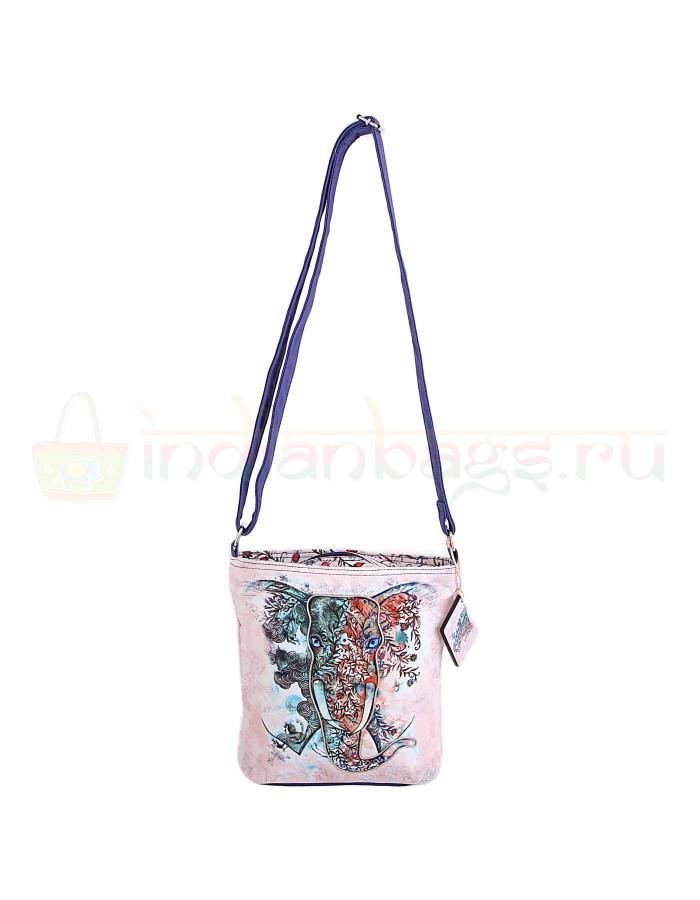 Купить индийскую текстильную сумку со слоном #АВ4460 в интернет-магазине индийских сумок «IndianBags.ru»