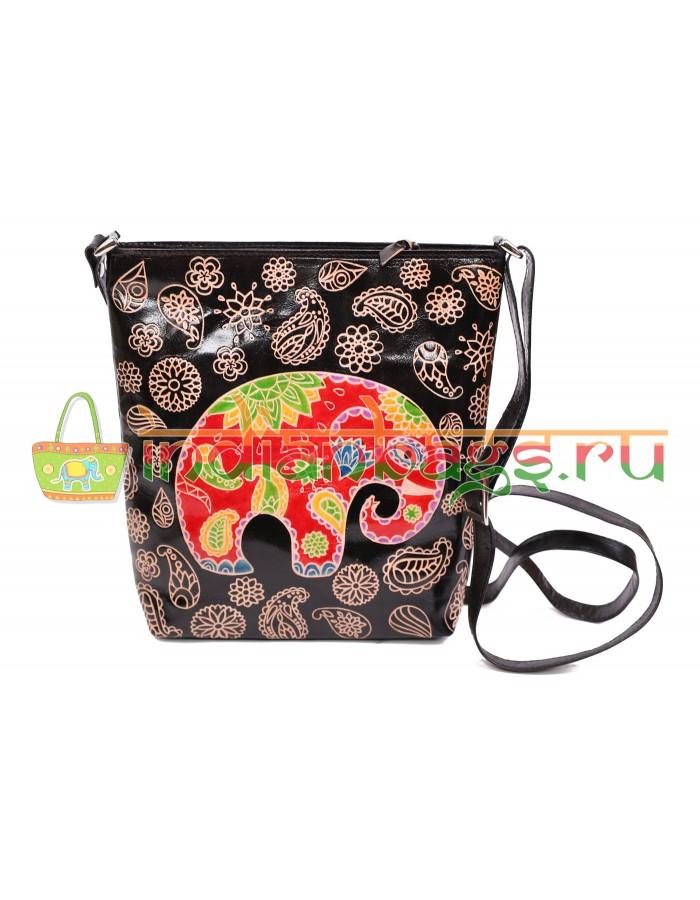 Купить женскую индийскую сумку из натуральной кожи теленка 100%  1354/3 в интернет-магазине индийских сумок «IndianBags.ru»