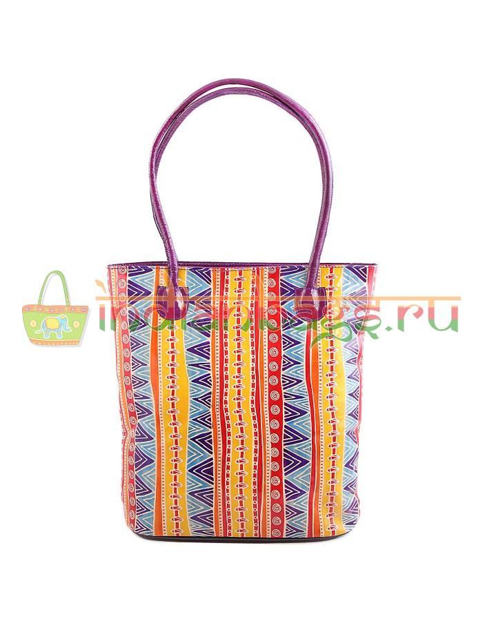 Купить индийскую этно сумку из натуральной кожи с этническим узором #1247/18 в интернет-магазине индийских сумок «IndianBags.ru»